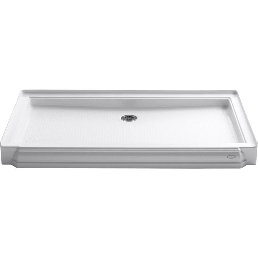 KOHLER Memoirs White Acrylic Shower Base (Common: 34-in W x 60-in L; Actual: 34-in W x 60-in L)