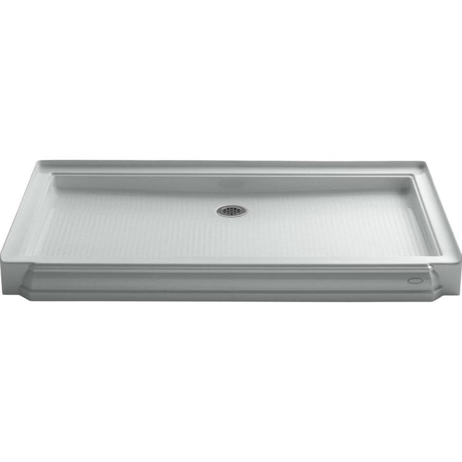 KOHLER Memoirs Ice Grey Acrylic Shower Base (Common: 34-in W x 60-in L; Actual: 34-in W x 60-in L)