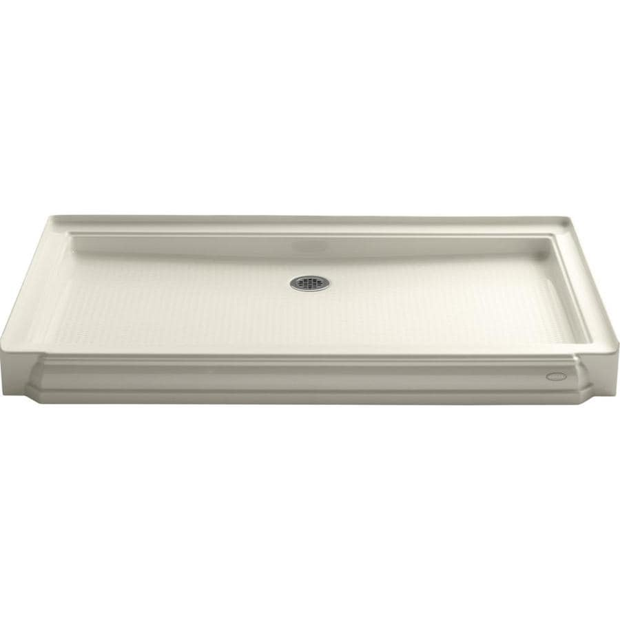 KOHLER Memoirs Almond Acrylic Shower Base (Common: 34-in W x 60-in L; Actual: 34-in W x 60-in L)