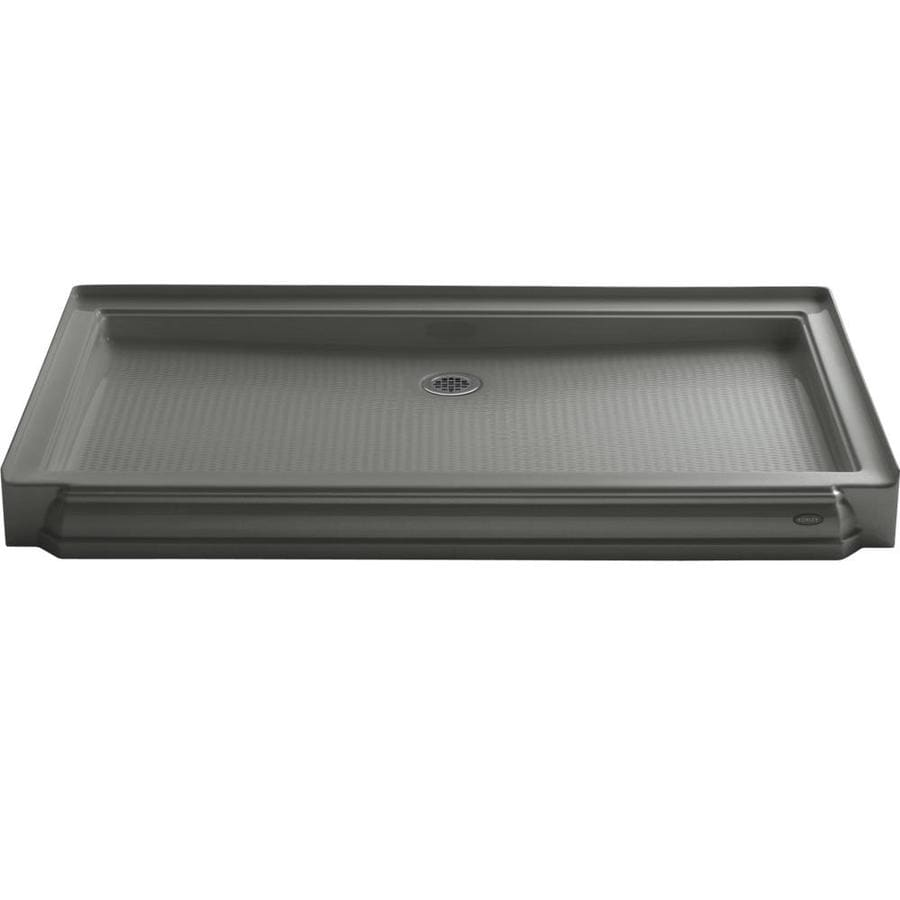 KOHLER Memoirs Thunder Grey Acrylic Shower Base (Common: 34-in W x 60-in L; Actual: 34-in W x 60-in L)