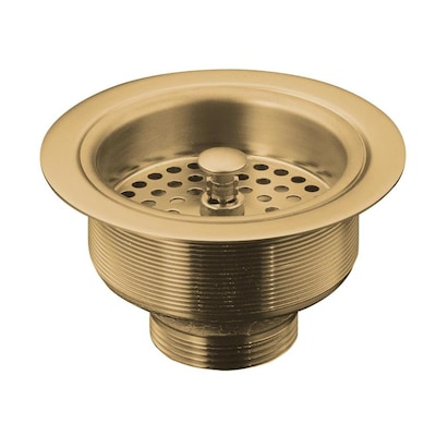 Duostrainer 4.5-in Vibrant Brushed Bronze Brass Twist and Lock Kitchen Sink  Strainer