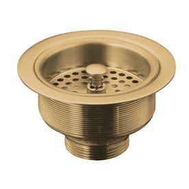 KOHLER Duostrainer 4.5 In Vibrant Brushed Bronze Brass Twist And Lock  Kitchen Sink Strainer