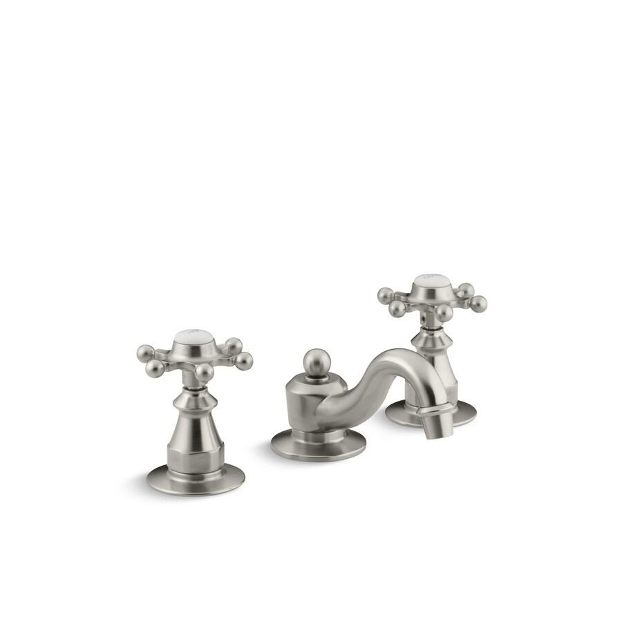 Shop Kohler Antique Vibrant Brushed Nickel 2 Handle Widespread Watersense Bathroom Faucet Drain