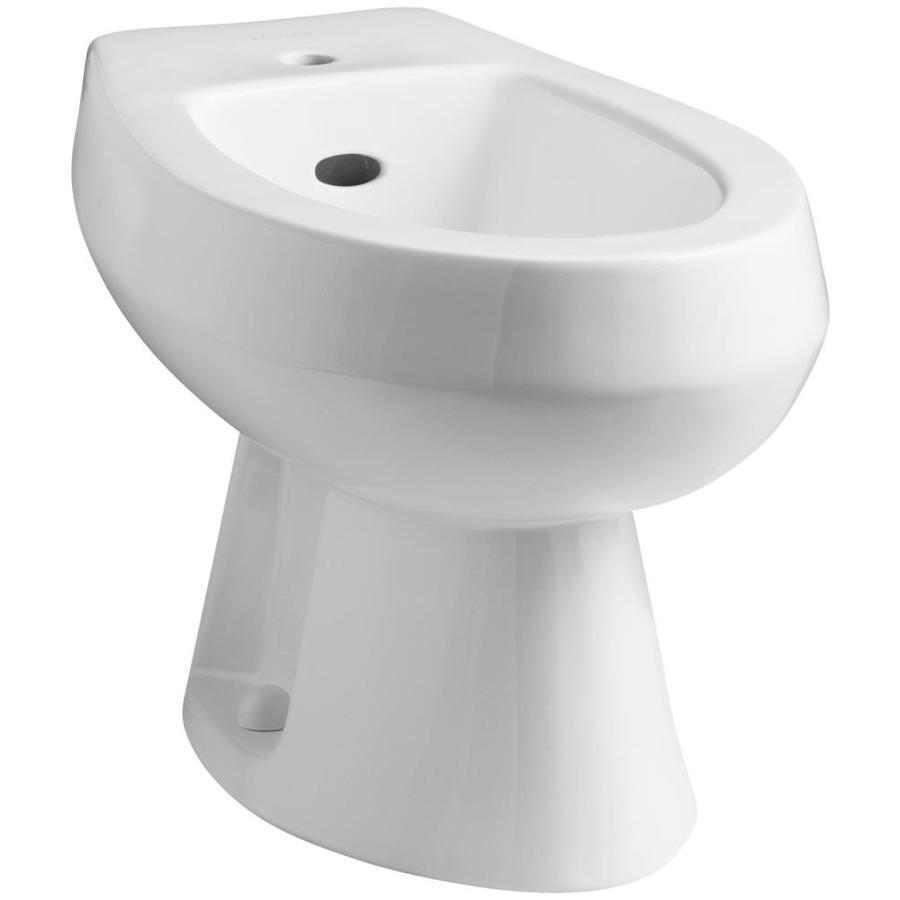 KOHLER Amaretto 15-in H White Elongated Bidet