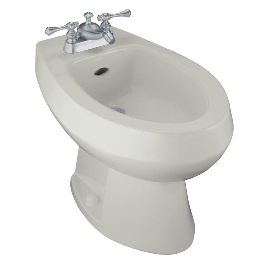 KOHLER Amaretto 15-in H Ice Grey Elongated Bidet