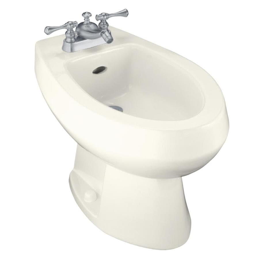 KOHLER Amaretto 15-in H Biscuit Elongated Bidet