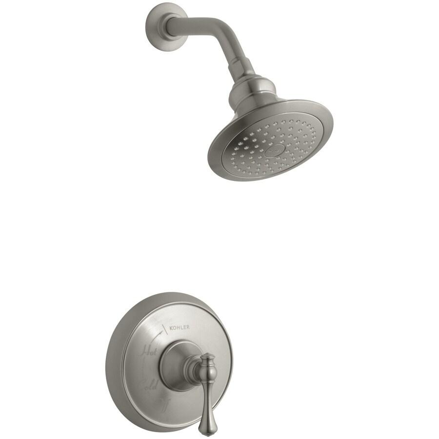 KOHLER Revival Vibrant Brushed Nickel 1-Handle Shower Faucet Trim Kit with Single Function Showerhead