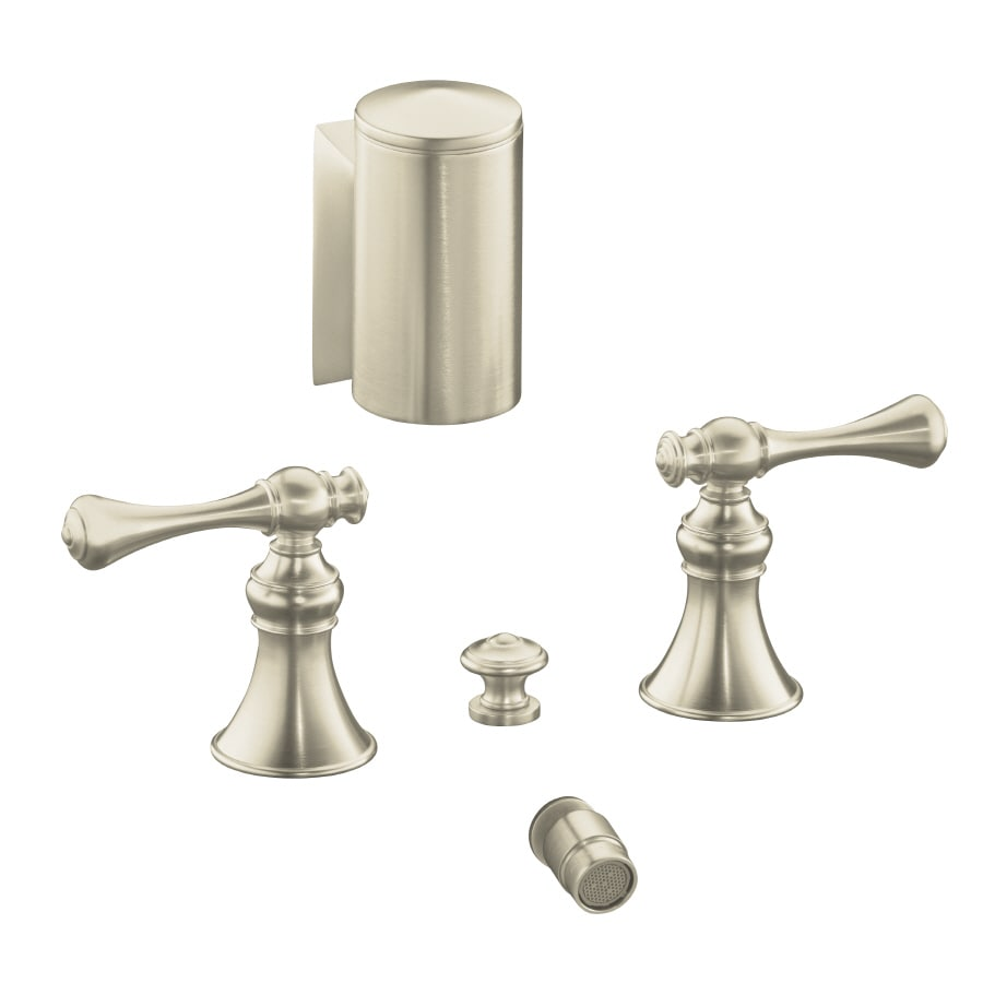 KOHLER Revival Vibrant Brushed Nickel Vertical Spray Bidet Faucet with Trim Kit