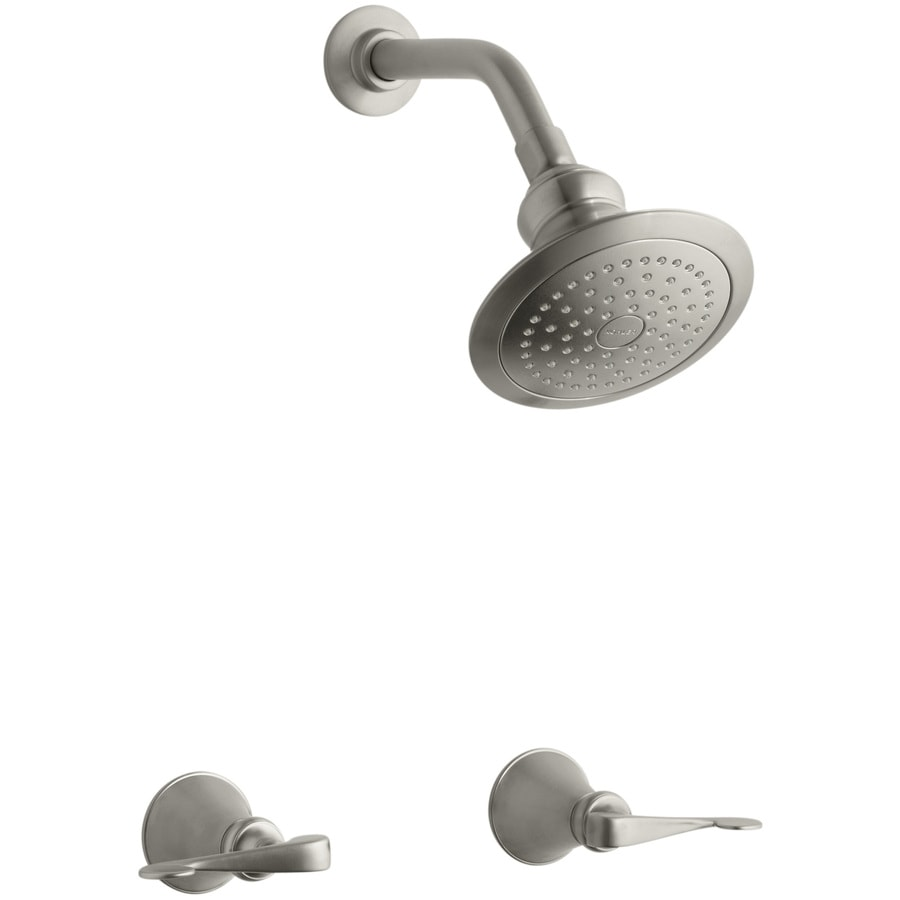 Kohler Revival Vibrant Brushed Nickel 2 Handle Shower Faucet With Single Function Showerhead