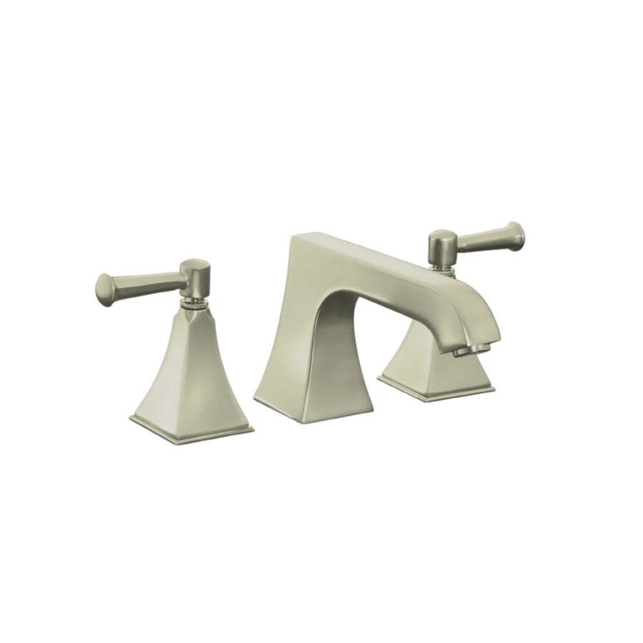 KOHLER Memoirs Vibrant Brushed Nickel 2-Handle Deck Mount Bathtub Faucet