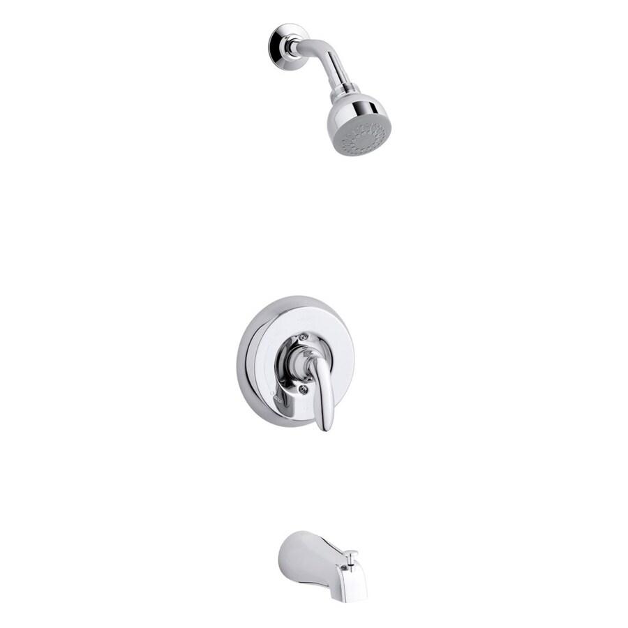 Kohler Coralais Shower Faucet Parts: Shop KOHLER Coralais Polished Chrome 1-Handle Bathtub And