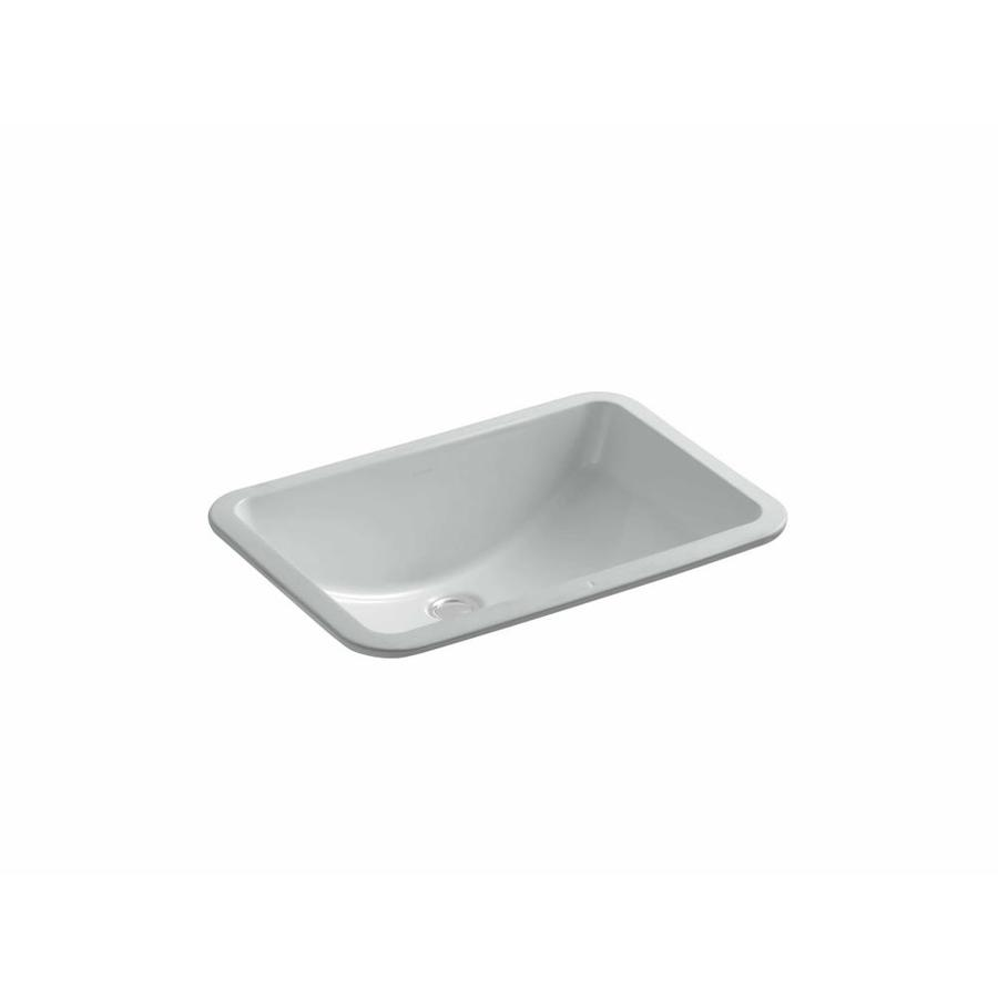 KOHLER Ladena Ice Grey Undermount Rectangular Bathroom Sink
