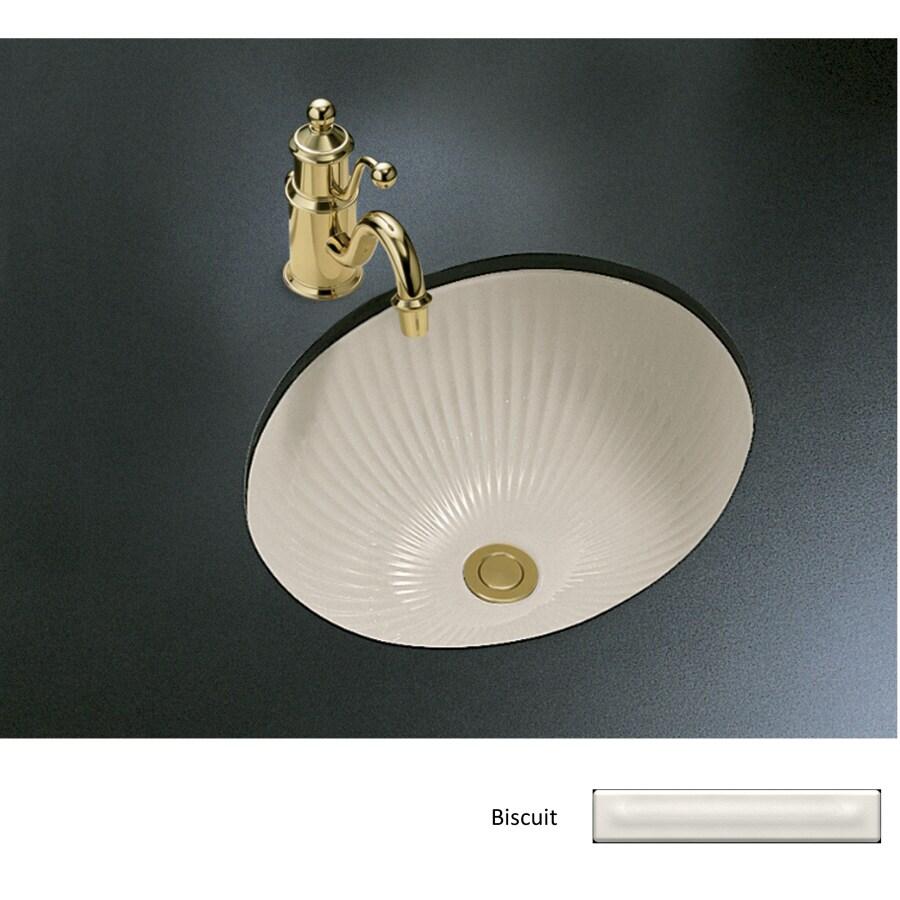 KOHLER Linia Biscuit Undermount Oval Bathroom Sink