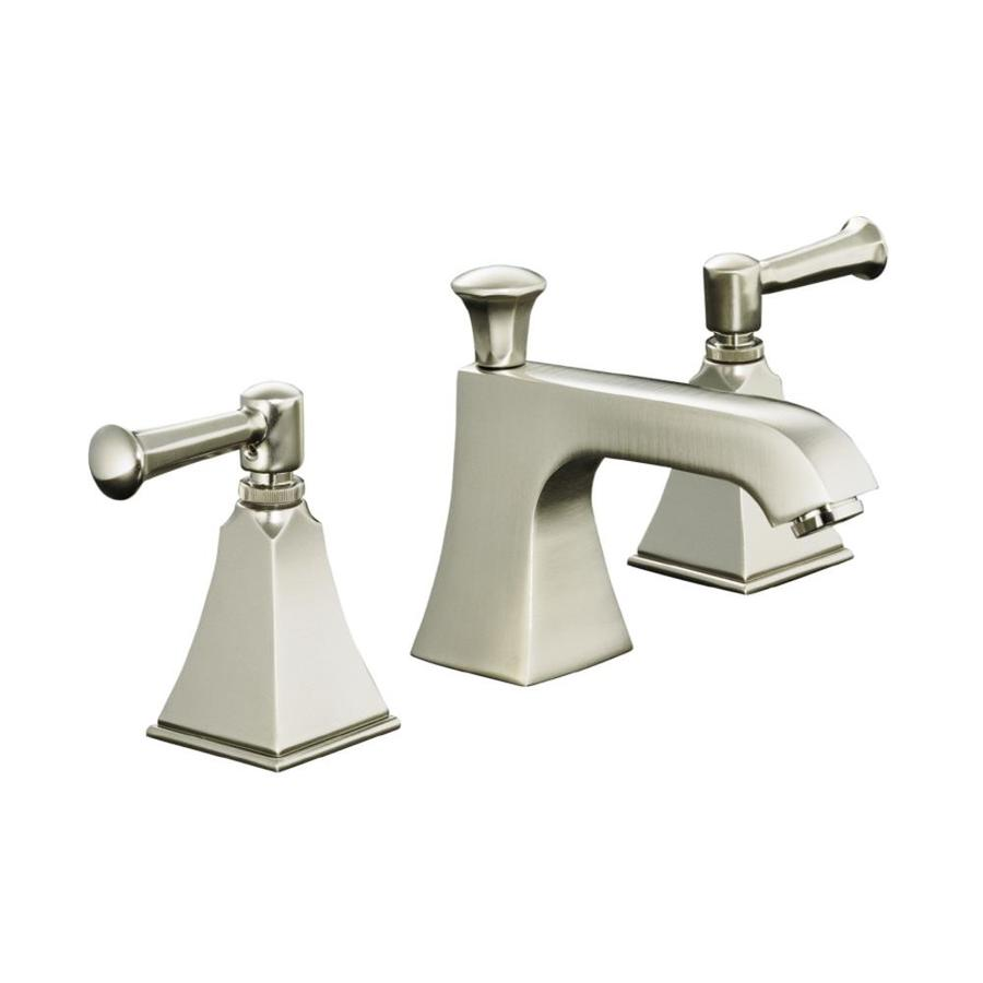 Kohler memoirs vibrant brushed nickel 2 handle widespread - Kohler two tone bathroom faucets ...