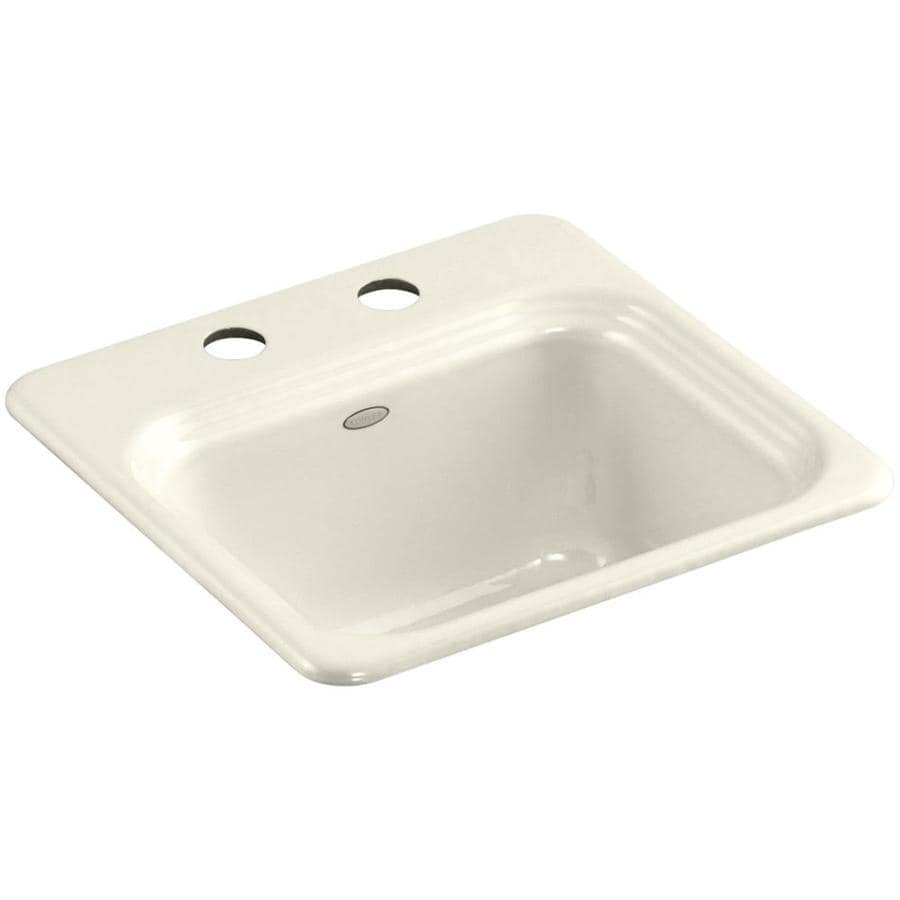... Hole Cast Iron Drop-in Commercial/Residential Bar Sink at Lowes.com