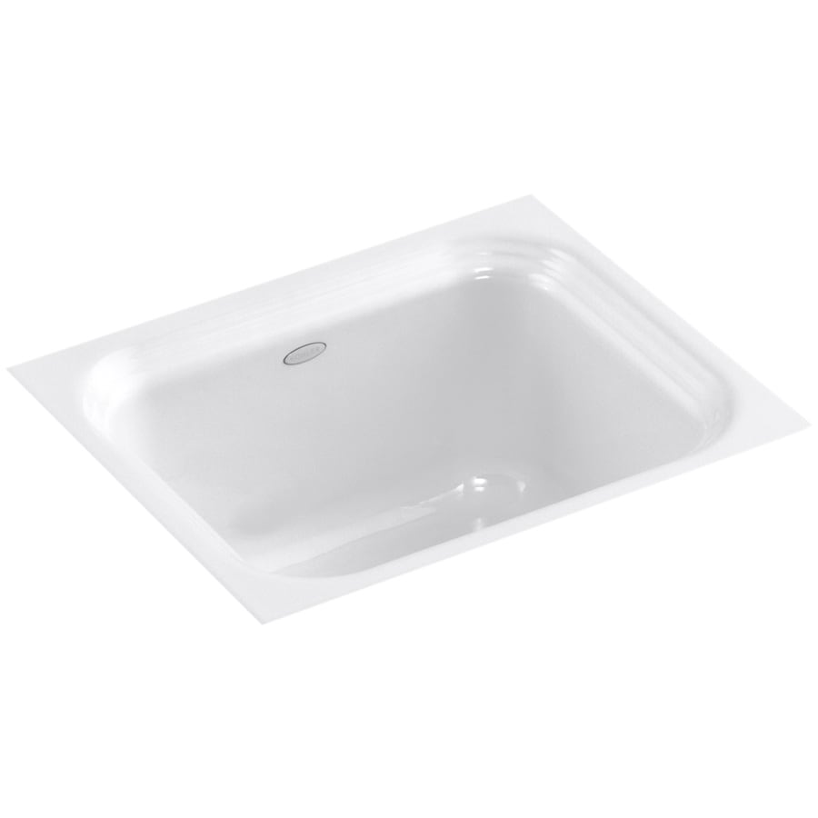 KOHLER Northland White Cast Iron Undermount Commercial/Residential Bar Sink