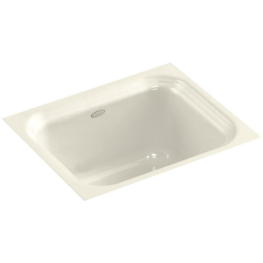 KOHLER Northland Almond Cast Iron Undermount Commercial/Residential Bar Sink