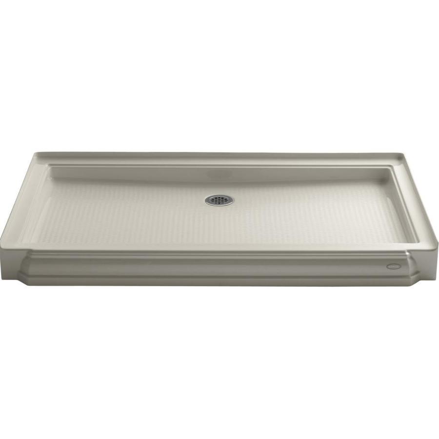KOHLER Memoirs Sandbar Acrylic Shower Base (Common: 34-in W x 60-in L; Actual: 34-in W x 60-in L)