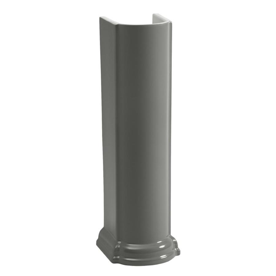 KOHLER 26.5-in H Thunder Grey Vitreous China Pedestal Sink Base