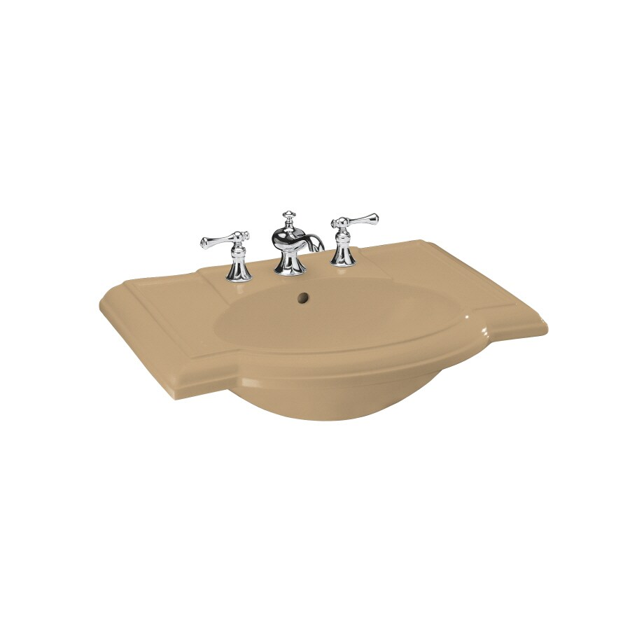 KOHLER 27.5-in L x 19.88-in W Mexican Sand Vitreous China Pedestal Sink Top