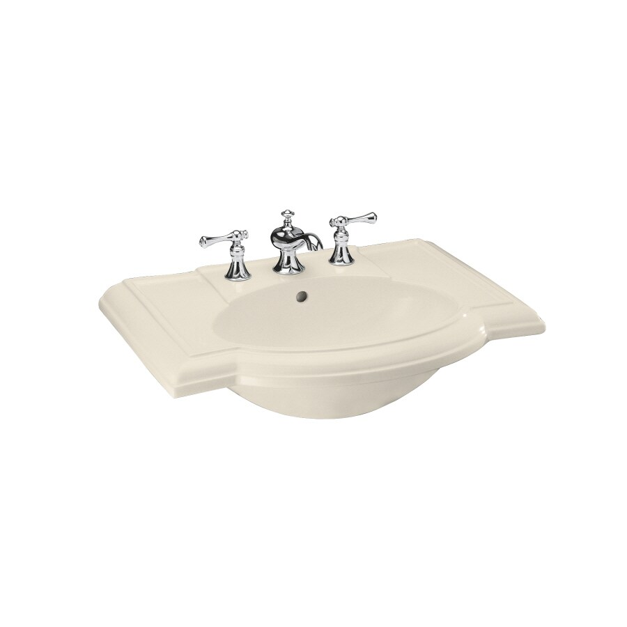 KOHLER Devonshire 27.5-in L x 19.88-in W Almond Vitreous China Oval Pedestal Sink Top