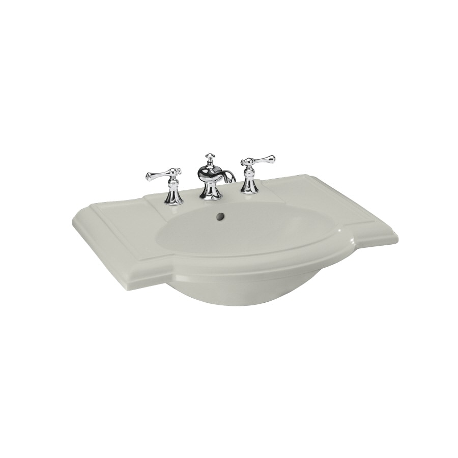 KOHLER 27.5-in L x 19.88-in W Ice Grey Vitreous China Pedestal Sink Top