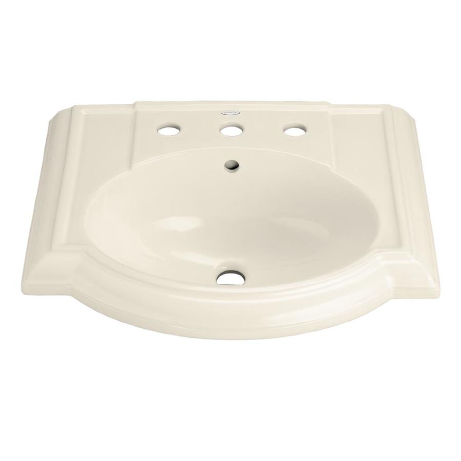 KOHLER Devonshire 24.125-in L x 19.75-in W Almond Vitreous China Oval Pedestal Sink Top
