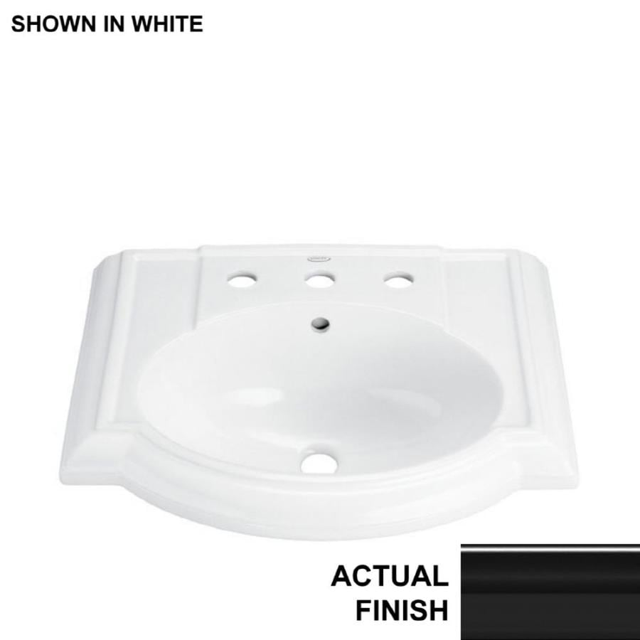 KOHLER 24.13-in L x 19.75-in W Black Vitreous China Pedestal Sink Top