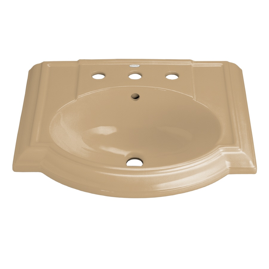 KOHLER 24.13-in L x 19.75-in W Mexican Sand Vitreous China Pedestal Sink Top