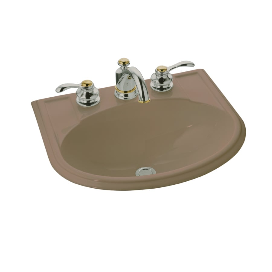 Shop kohler devonshire mexican sand drop in oval bathroom sink with overflow at - Kohler devonshire reviews ...