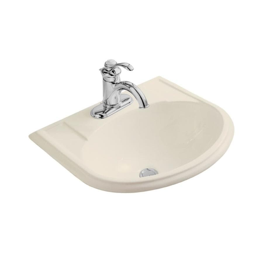Shop kohler devonshire almond drop in oval bathroom sink with overflow at - Kohler devonshire reviews ...