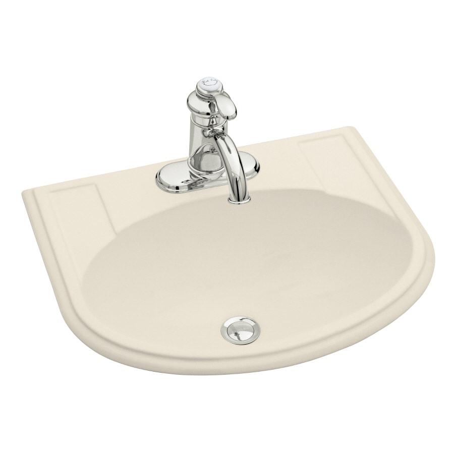 KOHLER Devonshire Almond Drop-in Oval Bathroom Sink with Overflow