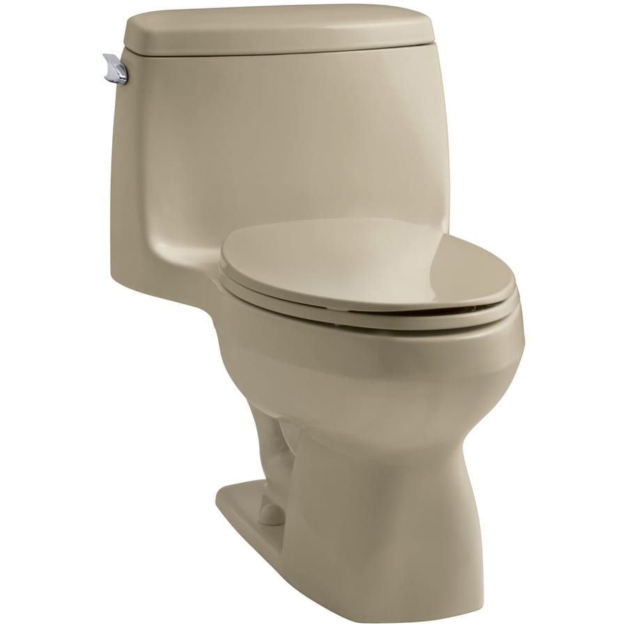 KOHLER Santa Rosa Mexican Sand 1.6-GPF (6.06-LPF) 12-in Rough-In Elongated 1-Piece Standard Height Toilet