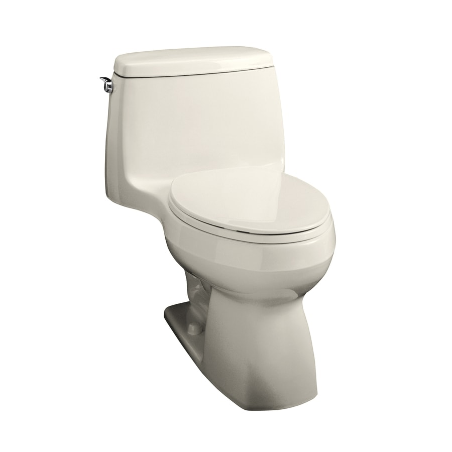 KOHLER Santa Rosa Biscuit 1.6 GPF Elongated 1-Piece Toilet