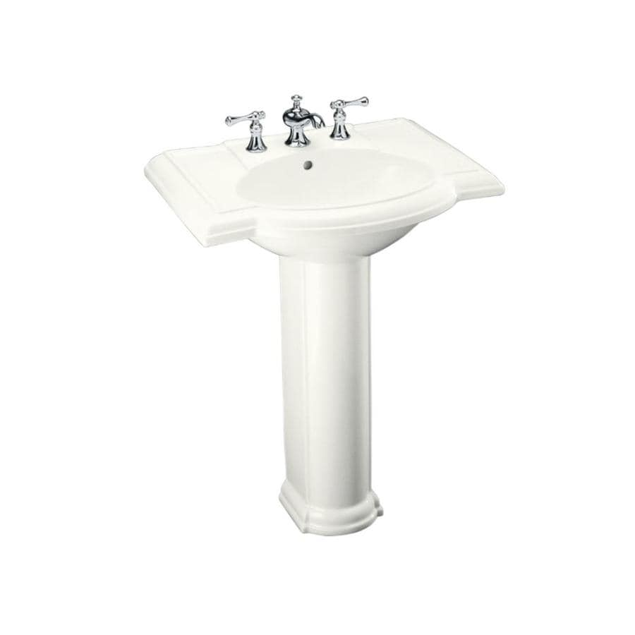 KOHLER Devonshire 33.5-in H White Vitreous China Pedestal Sink