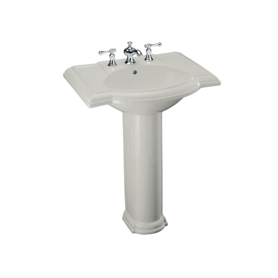 Shop KOHLER Devonshire 33.5-in H Ice Grey Vitreous China Pedestal Sink ...