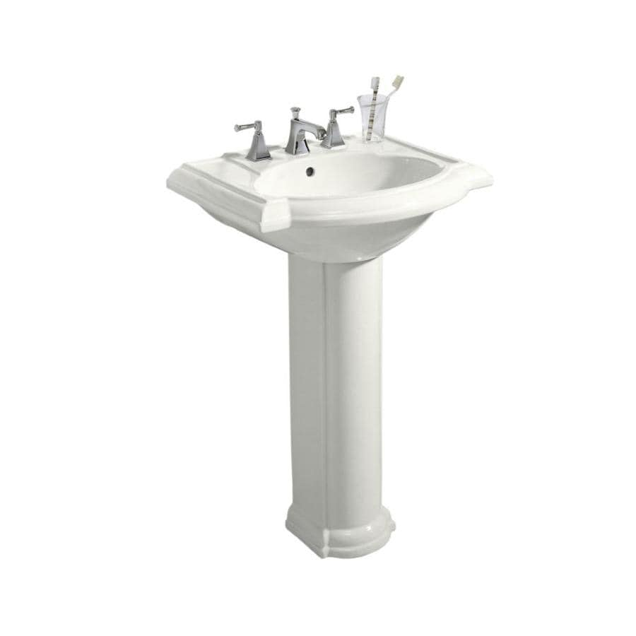 KOHLER Devonshire 33.5-in H White Vitreous China Complete Pedestal Sink