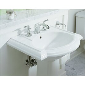 Shop Kohler Devonshire 33 5 In H White Vitreous China