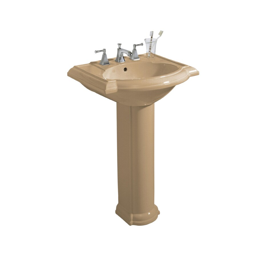 Kohler Pedestal : Shop KOHLER Devonshire 33.5-in H Mexican Sand Vitreous China Pedestal ...