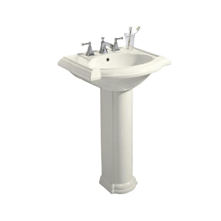 KOHLER Devonshire 33.5-in H Biscuit Vitreous China Pedestal Sink