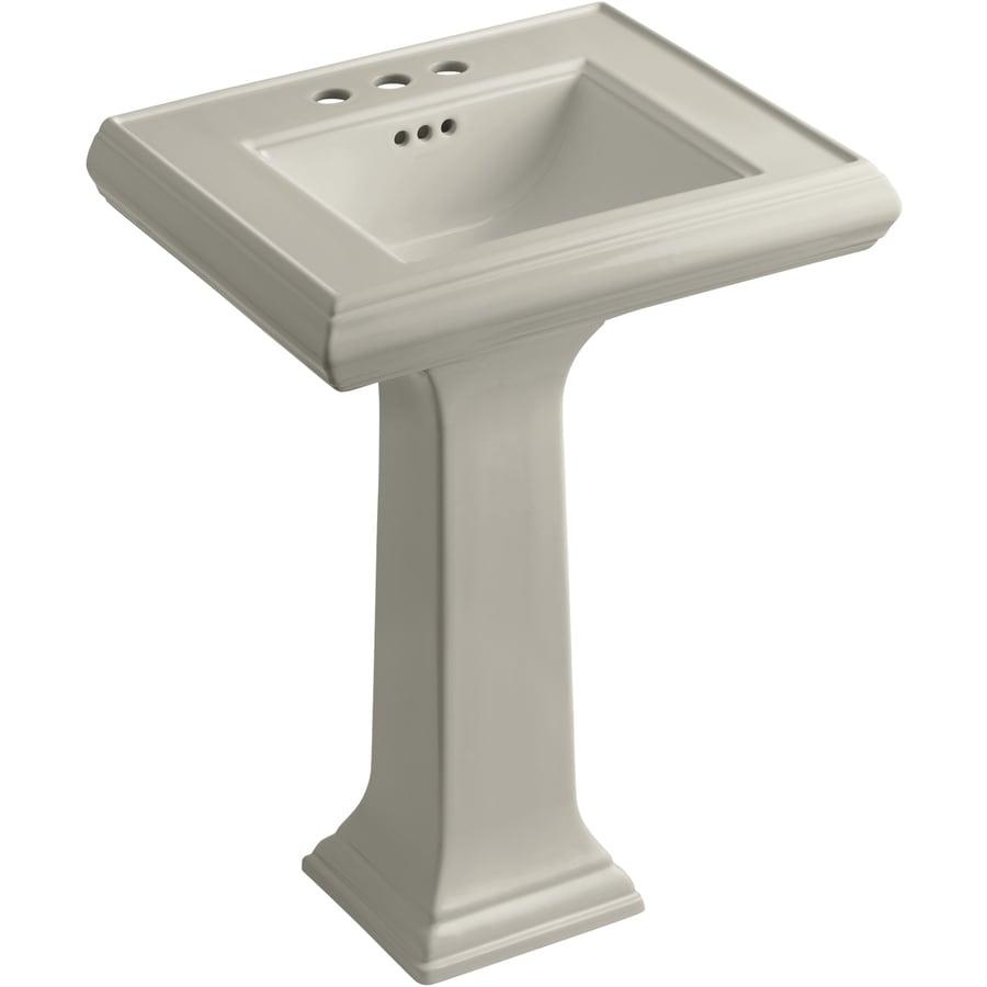 KOHLER Memoirs 34.38-in H Sandbar Fire Clay Pedestal Sink