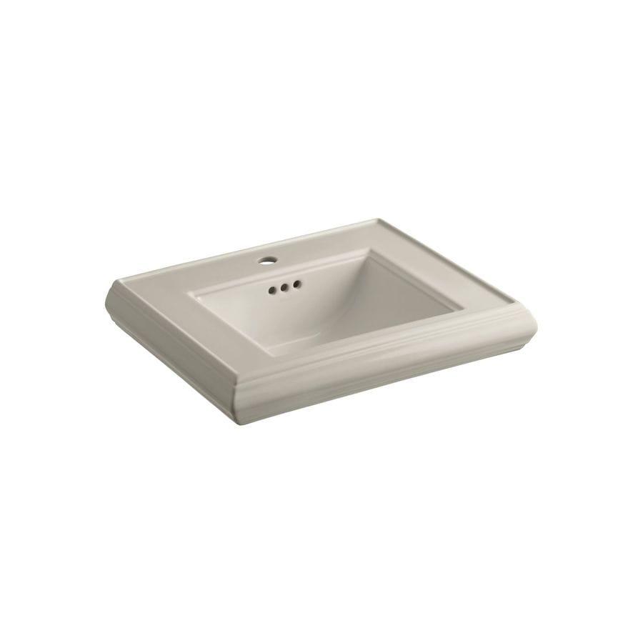 KOHLER Memoirs 24-in L x 19.75-in W Sandbar Fire Clay Rectangular Pedestal Sink Top