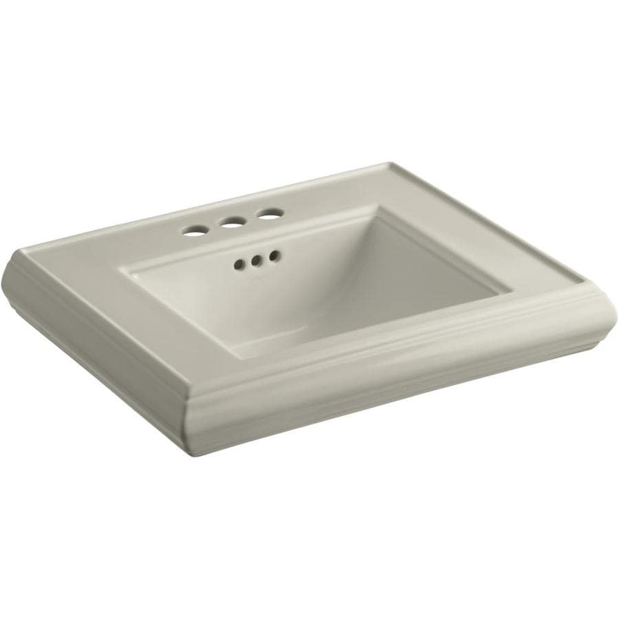 KOHLER 24-in L x 19.75-in W Sandbar Fire Clay Pedestal Sink Top
