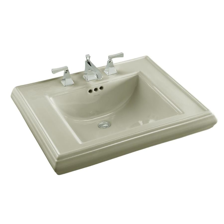 KOHLER Memoirs 27-in L x 22-in W Sandbar Fire Clay Rectangular Pedestal Sink Top
