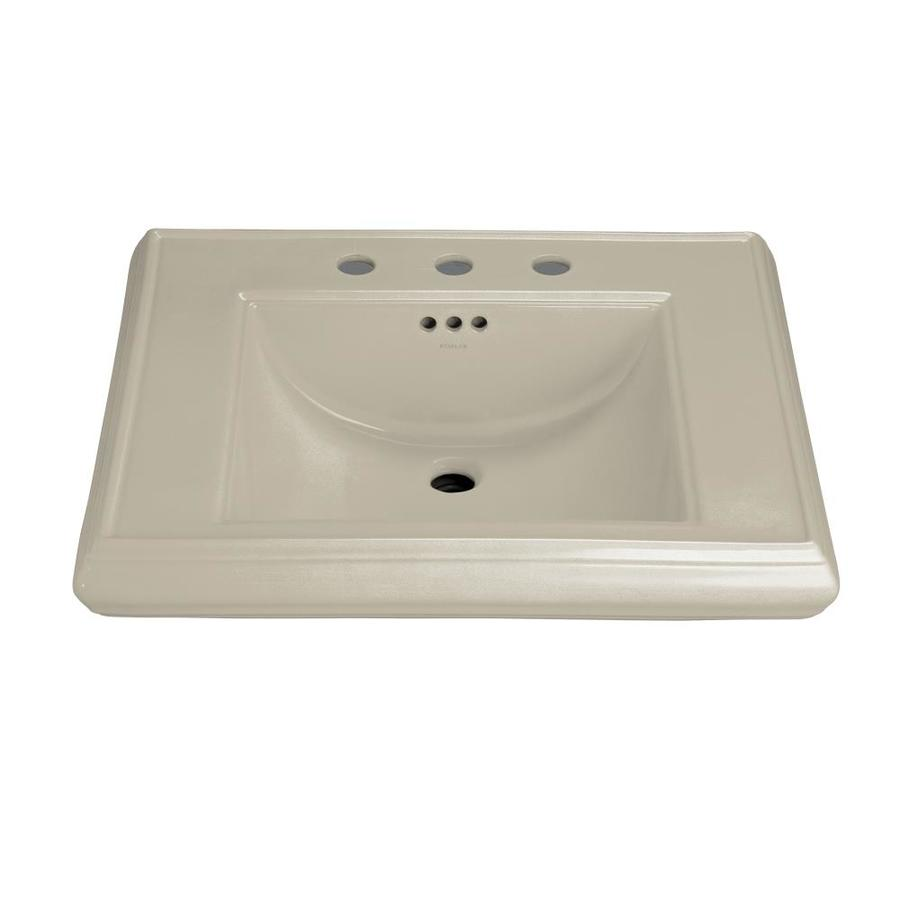 KOHLER Memoirs 27-in L x 22-in W Sandbar Fire Clay Rectangular Pedestal Sink Top
