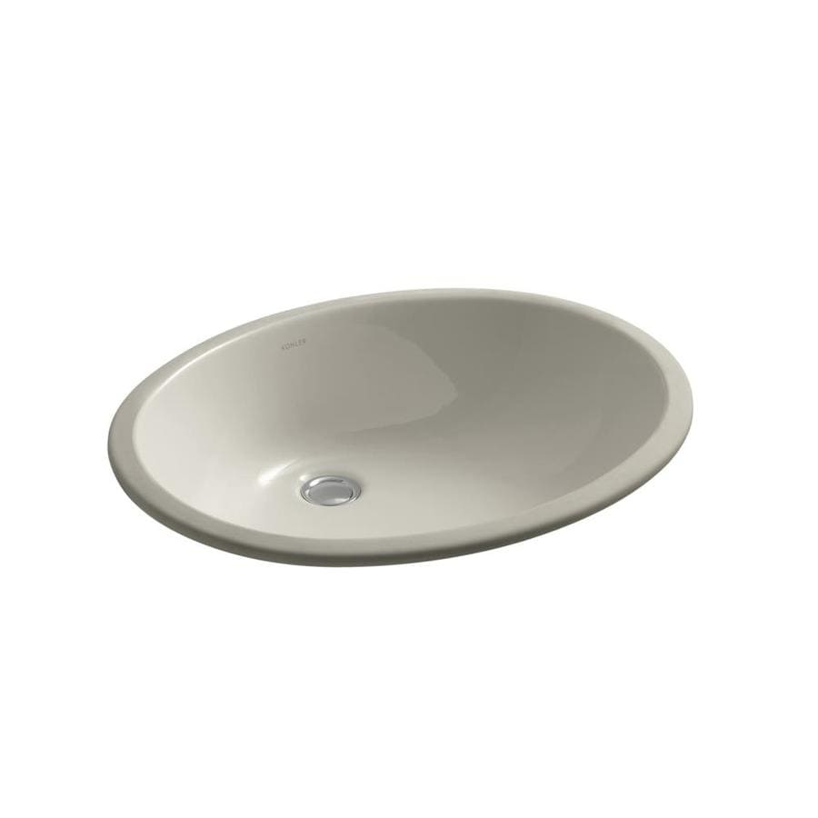 KOHLER Caxton Sandbar Undermount Oval Bathroom Sink with Overflow