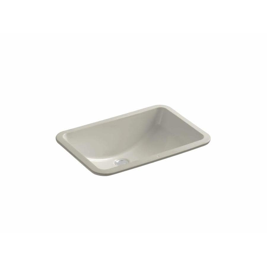 Rectangular Bathroom Sinks Undermount : Shop KOHLER Ladena Sandbar Undermount Rectangular Bathroom Sink with ...