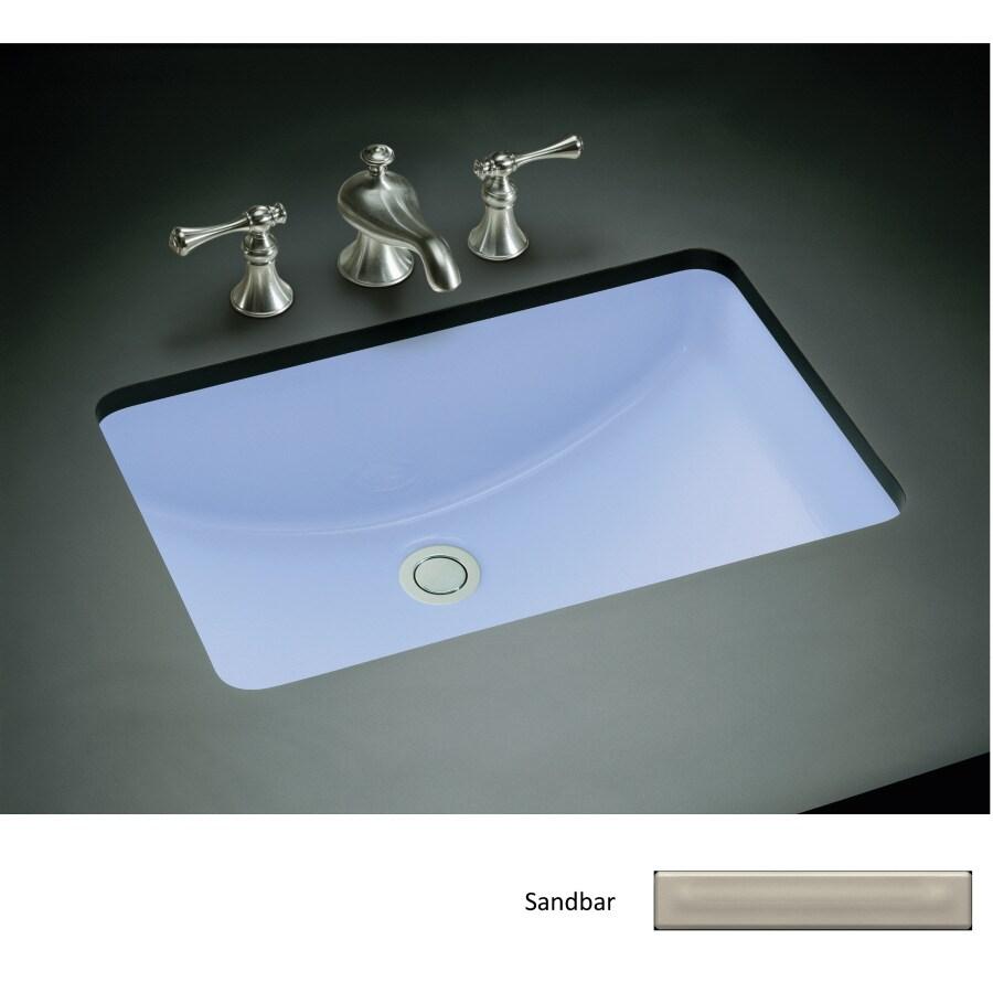 Shop Kohler Ladena Sandbar Undermount Rectangular Bathroom Sink At