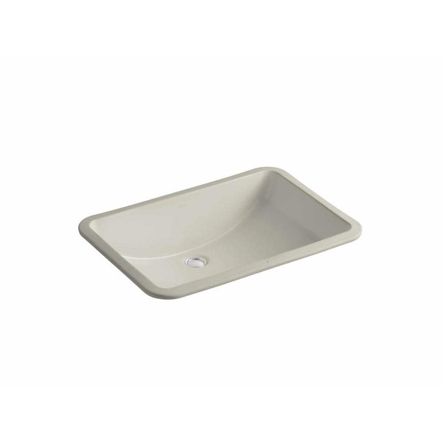 Shop Kohler Ladena Sandbar Undermount Rectangular Bathroom Sink With Overflow At