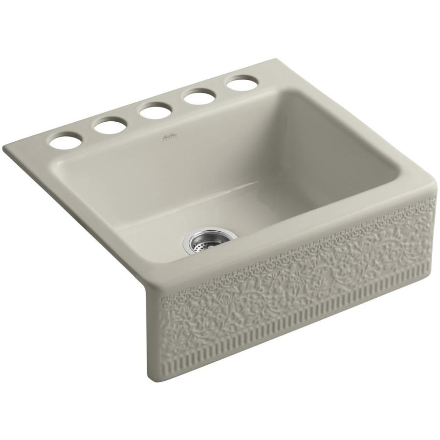 Kohler Farm Sink Accessories : ... Single-Basin Fireclay Apron Front/Farmhouse Residential Kitchen Sink